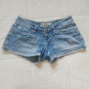 Levis Shorty Short Cuffed Shorts